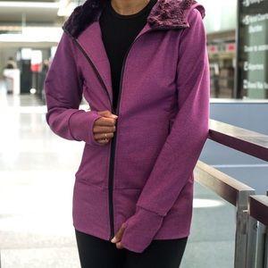 Betabrand | NWT Knockout travel purple zip hoodie